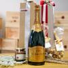 Cesto Regalo con Champagne MAGNUM e prodotti tipici di LANGA